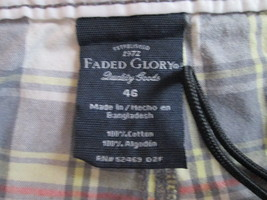 Mens plaid shorts by Faded Glory Color Gray Size 46 TF467/CJC - $11.94