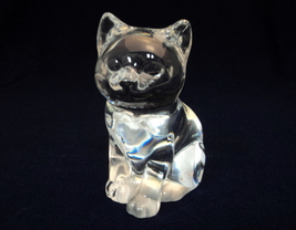 Princess House Crystal Clear Pet Cat Kitten Collectible Figure Paperweight - $18.00