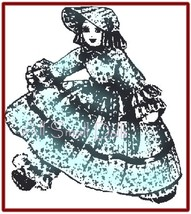 """Vintage Pattern for 13 1/2"""" Old Fashioned Cloth Doll - $4.99"""