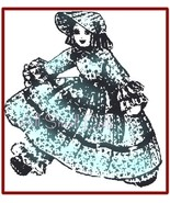 "Vintage Pattern for 13 1/2"" Old Fashioned Cloth Doll - $4.99"