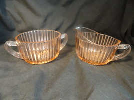 Pink Queen Mary Depression Glass Sugar Creamer ... - $7.49