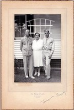 Bernier Family with WWII Soldier Son Photo - Brunswick, Maine - $17.50