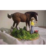 Budweiser Clydesdale Figurine APPLE FOR KING CLYD5 - $55.95