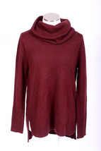 Burgundy Soft Merino Wool Blend TAHARI Cowl Neck Hi-Low Slinky Sweater W... - $49.89