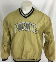 Purdue Boilermakers Gold Pullover Jacket V-Neck Holloway Men's Small Mad... - $39.99