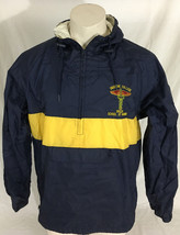 Blue and Yellow Windbreaker Half-Zip Ursuline College Nursing School Men... - $49.99