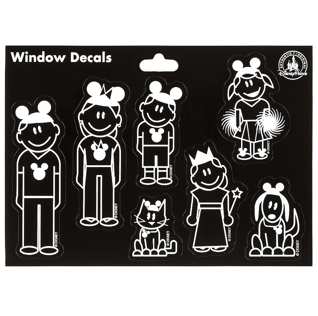 Disney parks family with mickey mouse ear hats window decal sticker set new