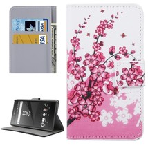 For Xperia XA Blossom Pattern Leather Case with Holder, Card Slots & Wallet - $8.99