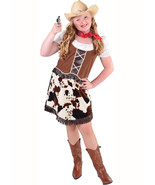 Girls  Cowgirl Costume - Cowprint  Trim  - $32.40