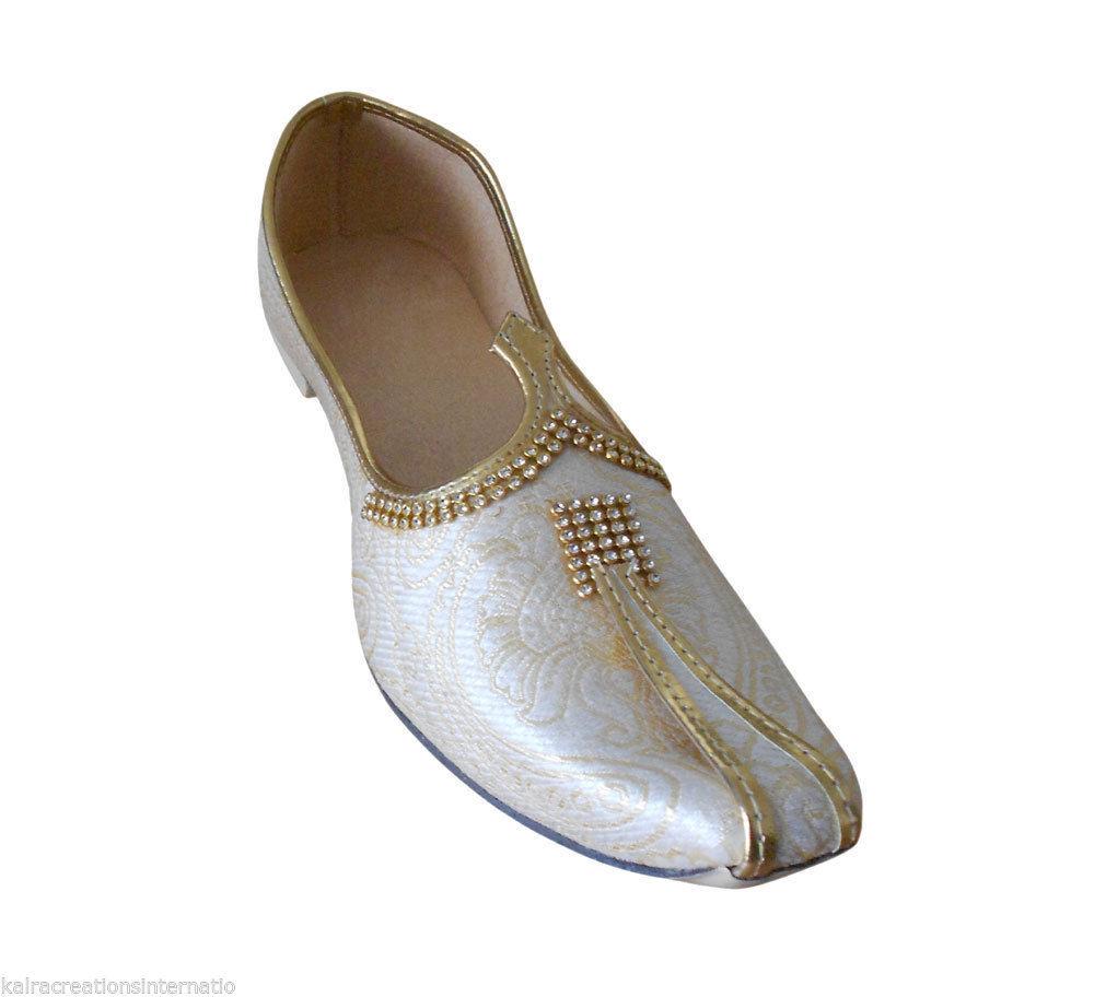 a0a49dd0de9f2 S l1600. S l1600. Traditional Indian Wedding Men Shoes Khussa Handmade  Mojari Flip-Flops US ...