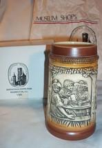 Vintage 1982 Froher Trunk Halt Jung Ceramic Tankard Beer Stein - $9.45