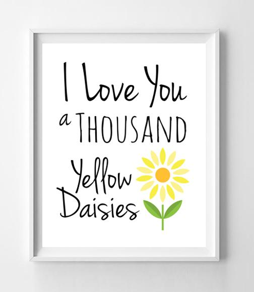 GILMORE GIRLS Print I LOVE YOU A THOUSAND YELLOW DAISIES 8x10 Wall Decor Print - $7.00