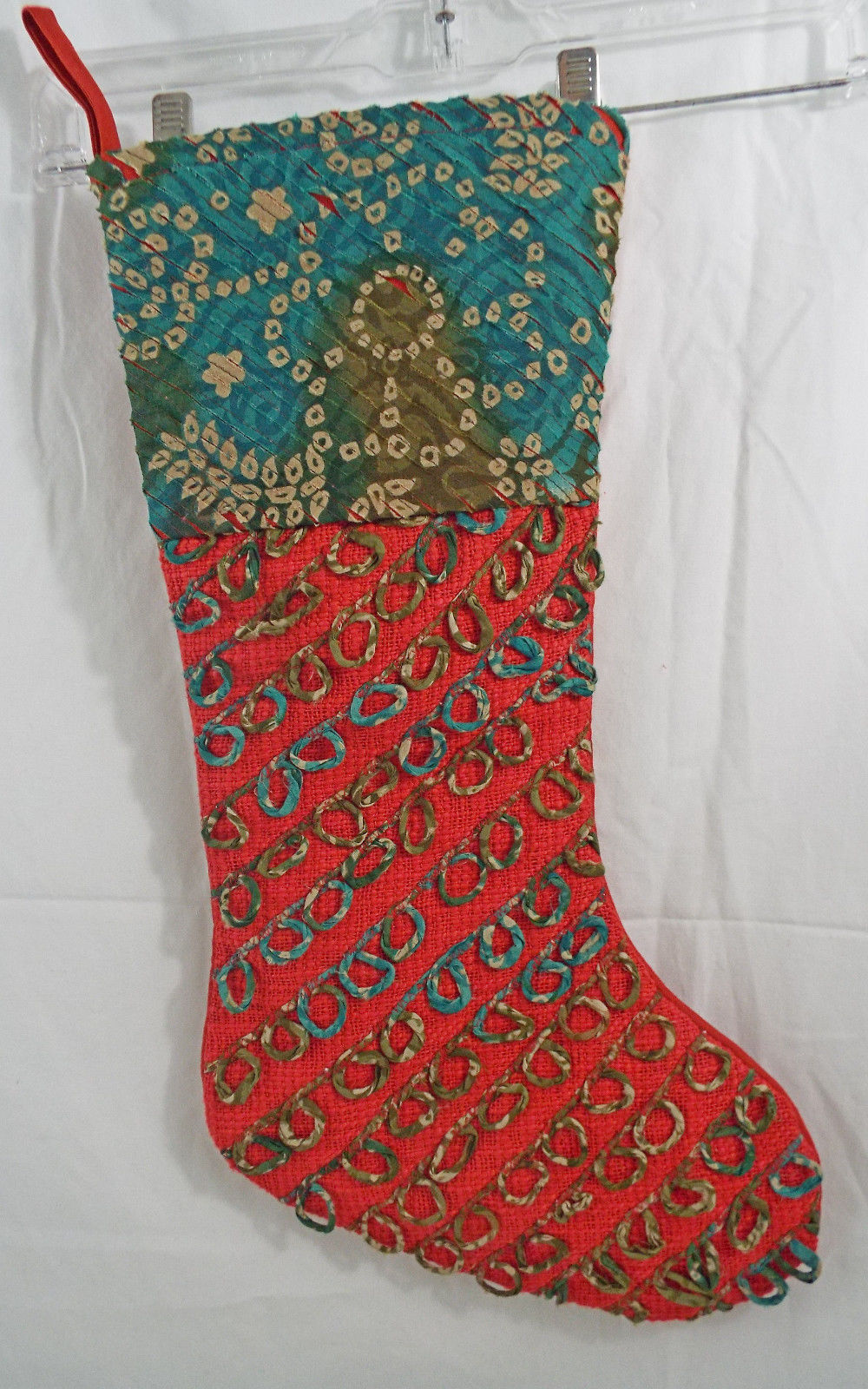"Primary image for Heavyweight Woven & Fabric Christmas Stocking  20"" Long 9"" Opening Multi Color"