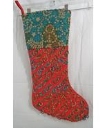 "Heavyweight Woven & Fabric Christmas Stocking  20"" Long 9"" Opening Multi... - $18.60"