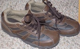 BOY'S SMART FIT SHOES SIZE 2 BROWN (LIGHTLY USED) - $14.03