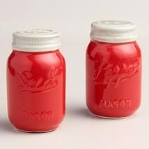 Mason Jar Salt and Pepper Shakers Vintage Ceram... - $18.90