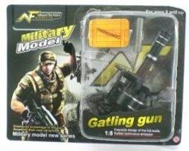 Gatling Machine Gun 1:8 Scale Military Model Gi Joe Doll Accessory - $4.99