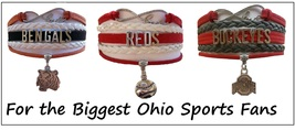 OHIO Sports Bracelet 3 Pack Gift Special - Cincinnati Bengals, Reds & Oh... - $25.99