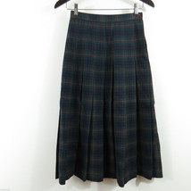 Talbots 100% Wool Plaid Pleated Skirt Size 4 Excellent Condition - $29.65