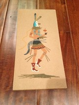 "Old Navajo Sand Painting Of Kachina 6""x12"" - $18.69"