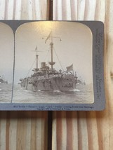 Stereo View Underwood & Underwood 1898 Texas Battleship Captain Jack Philip - $14.01