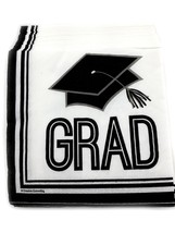10 packs of 36 Graduation Beverage Cocktail Napkins Paper - Graduation Cap - $31.48