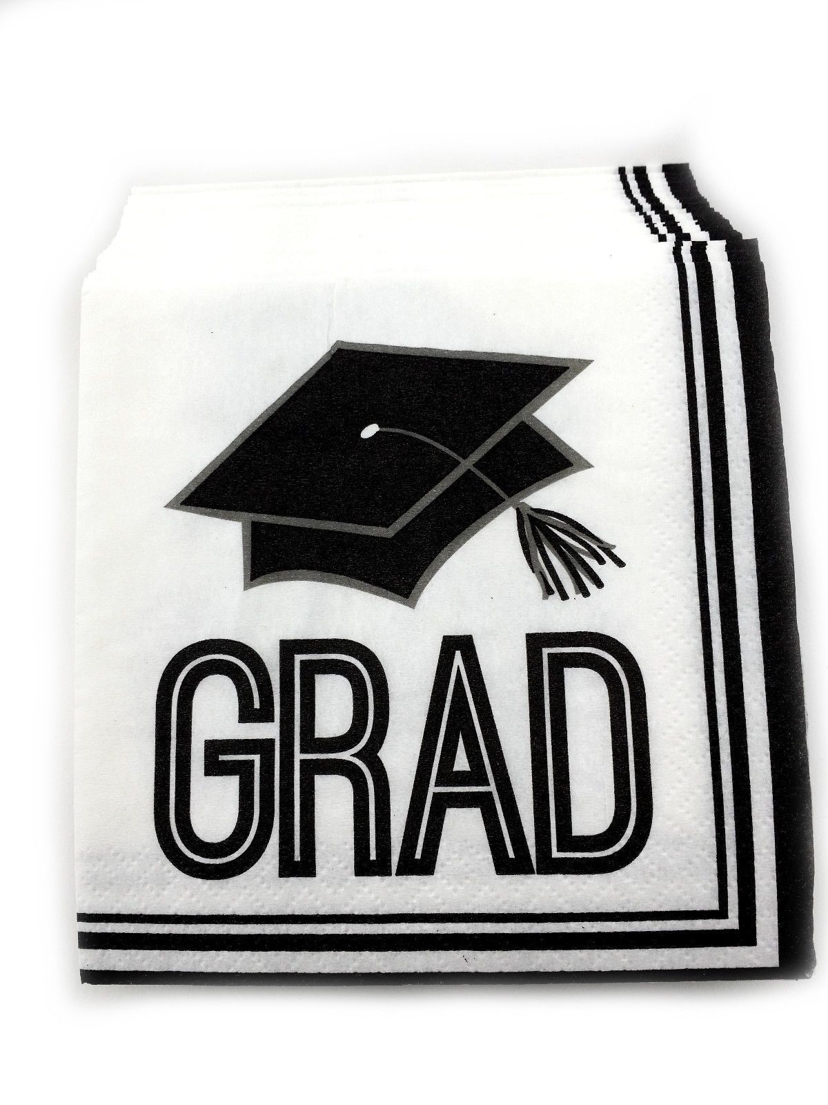 10 packs of 36 Graduation Luncheon Dinner Napkins Paper - Graduation Cap