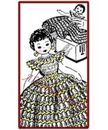 Vintage Pattern for Doll Toaster Cover Crocheted Dress - $4.99