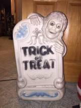 Halloween skeleton tombstone blow mold yard decor plastic light up - £35.91 GBP