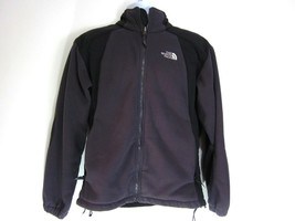 The North Face Fleece Jacket Coat Grey Charcoal Black Mens Medium - $32.62
