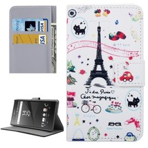 For Xperia X Tower Pattern Leather Case with Holder, Card Slots & Wallet - $8.99