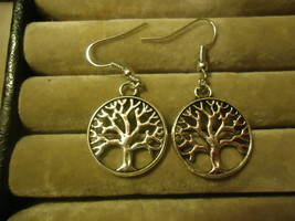 TREE OF LIFE DANGLE EARRINGS     C/S & H AVAILABLE  (Z89) - $2.50