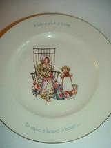1970s Holly Hobbie Star Spangled Series Make a House a Home Plate - $14.99