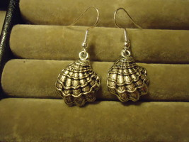 SEASHELL DANGLE EARRINGS     C/S & H AVAILABLE      (Z90) - $2.75