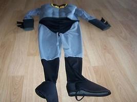 Size Medium 8-10 Batman Gray Grey Black Halloween Costume Jumpsuit Rubie... - $22.00
