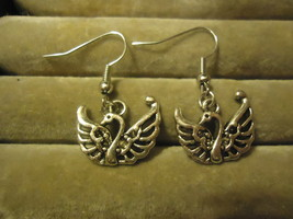 SWAN DANGLE EARRINGS     C/S & H AVAILABLE   (Z92) - $2.30
