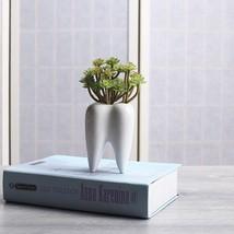 Tooth Shape White Ceramic Flower Pot Plant Succulent Garden Home Decor F... - $15.81