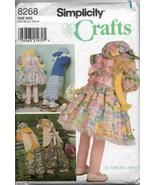 Simplicity 8268 Crafts Dolls Bunny Clothes One Size 30 inches tall Sew P... - $11.00
