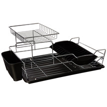 Home Basics 2 Tier Stainless Steel Dish Rack Black - €28,40 EUR