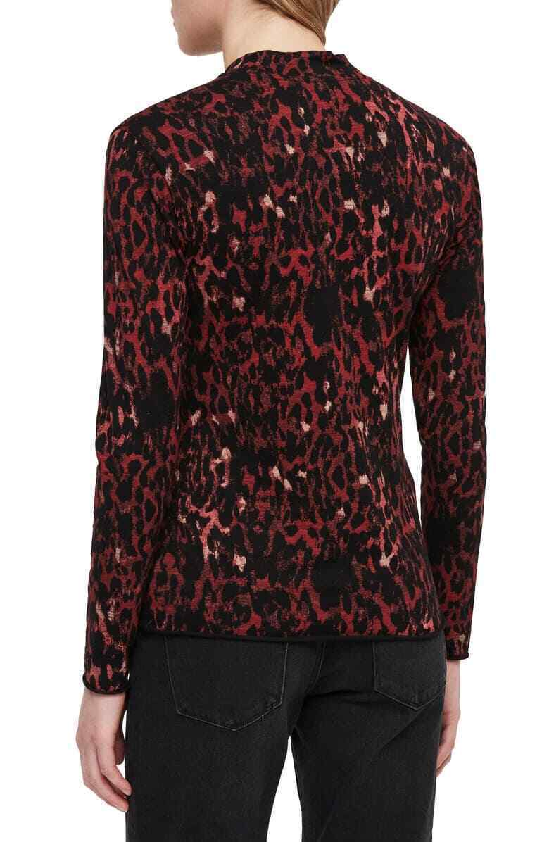 All Saints Leopard Kiara Shirt, Red, X-Small