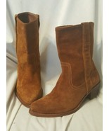 Steve Madden womens boots sz 8 M Peramis country western cowboy boots tan suede  - $45.53
