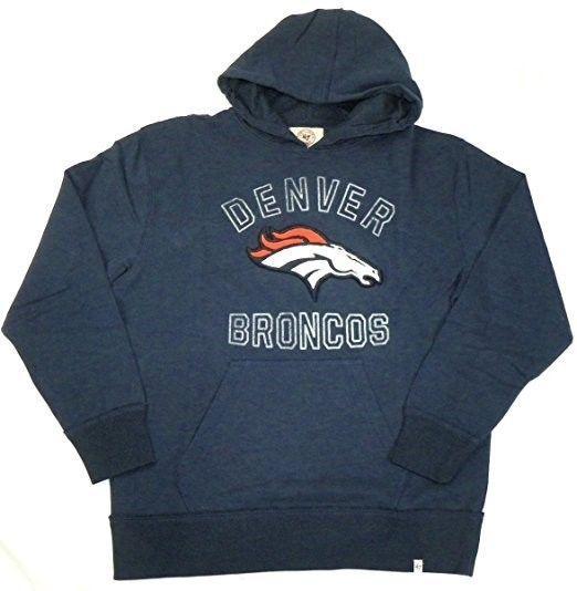 Denver Broncos Hoodie Men's NFL First Strike Hooded Pullover Sweatshirt NEW