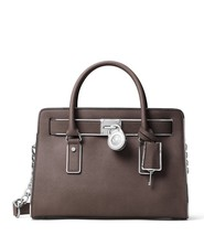MICHAEL Michael Kors Hamilton Specchio East/West Leather Satchel - Cinder - $298.00