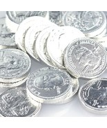 Milk Chocolate Coins - Silver Quarters - Pick a Size! - Free Expedited S... - $211,55 MXN+