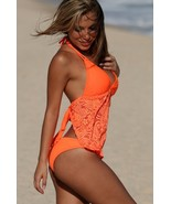Sexy UjENA Festival Open Back Neon Orange Lace ... - $98.00