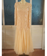 Vintage Victoria Royal Sequin Beaded 20s Style Formal Maxi Gown Dress Pa... - $145.00
