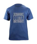 Original Funny Straight Outta Detroit Michigan Football Team Colors T-Shirt - $19.99