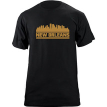 Original New Orleans Louisiana Skyline Football Team Colors T-Shirt - $19.99