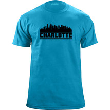 Original Charlotte North Carolina Skyline Football Team Colors T-Shirt - $19.99