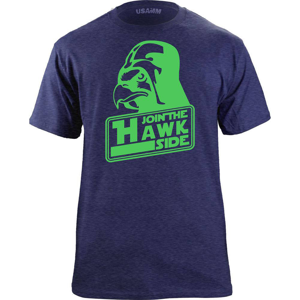 Original Seattle Join the Hawk Side Classic T-Shirt image 2
